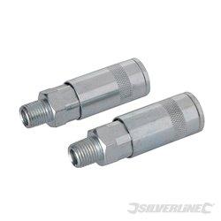 """2 coupleurs rapides pour tuyau air comprimé - 1/4"""" BSP"""