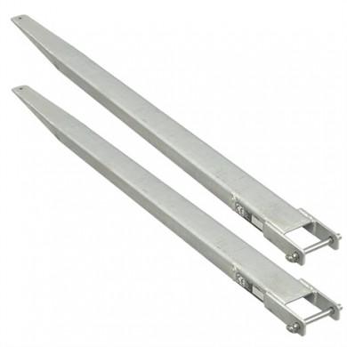 Rallonges de fourches fermées galvanisées 1800 x 100 mm / la paire