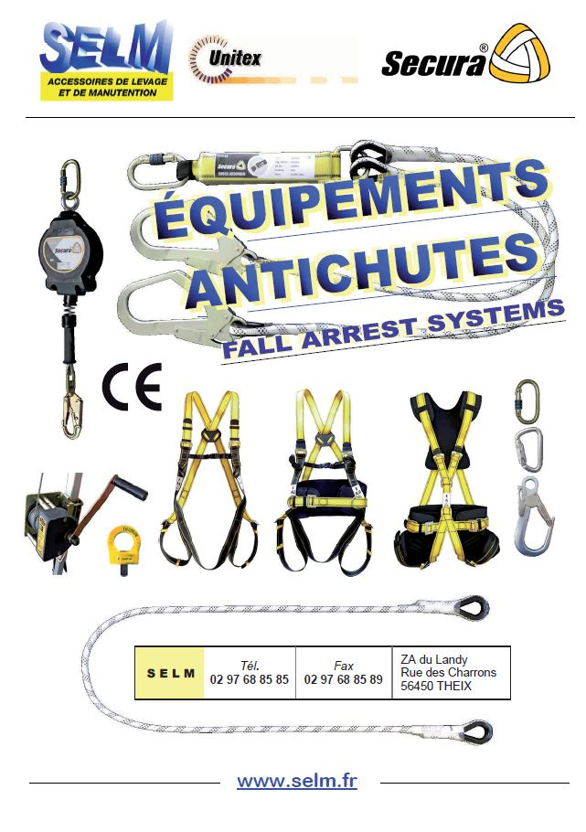 Le catalogue spécial EPI harnais de sécurité