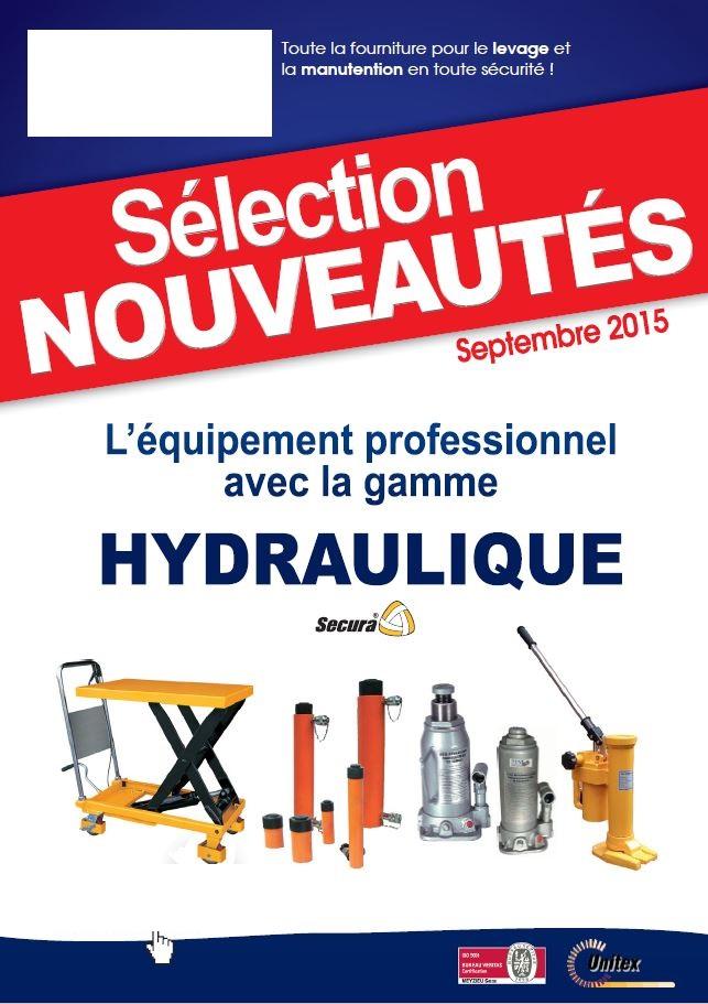 Catalogue sur la gamme hydraulique